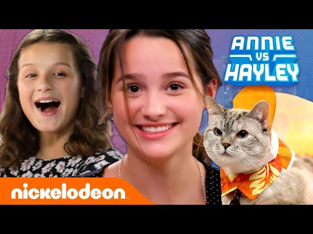 Annie & Hayley Make Outfits For NALA CAT & TUNA! 🐱🐶 Fashion Faceoff: Season 2 Ep. 3   Nick