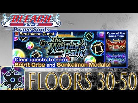Bleach Brave Souls Senkaimon Floors 30-50