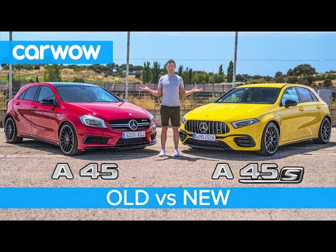 New AMG A45 S vs old AMG A45 review + 0-60, rolling race and drift test!