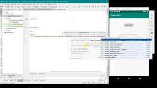 How to create PDF file in your Android App? Complete source code using Android Studio