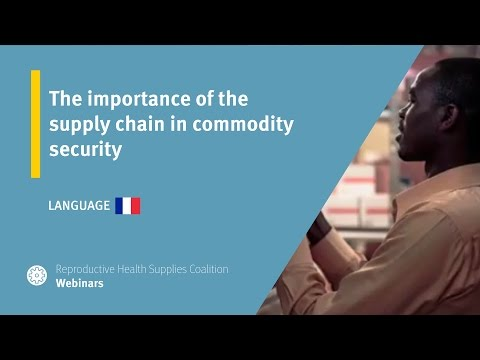 The importance of the supply chain in commodity security