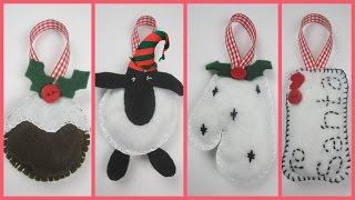 {Christmas} ❄ DIY Felt Christmas Decorations