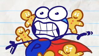 🍪 Pencilmate vs Evil Cookies! Who will win?! 🍪 Animated Cartoons Characters   Pencilmation for kids