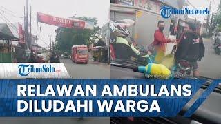 Viral Video Pengendara Motor Cekcok dan Ludahi Relawan saat Kawal Ambulans Bawa Pasien