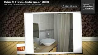 preview picture of video 'Maison F3 à vendre, Argeles Gazost, 153000€'