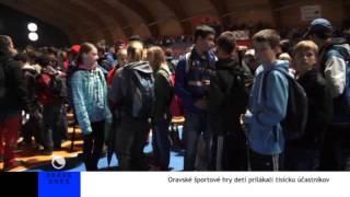 preview picture of video 'Oravské športové hry detí prilákali tisícku účastníkov'