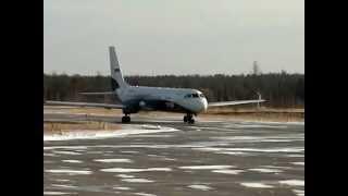 Аэропорт Нягань. Ил-114 привез Вахту.