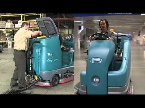 T16 Ride-On Scrubber Product Demonstration