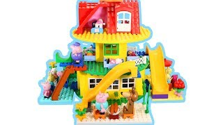 Peppa Pig House Construction Sets - Lego Duplo House Creations Toys For Kids #8