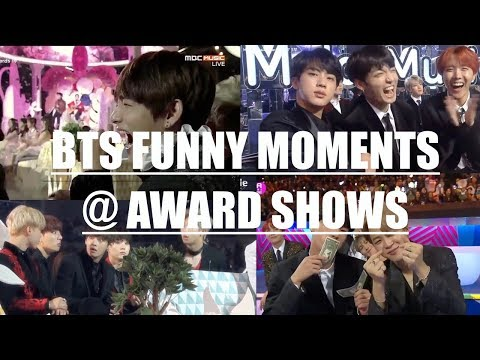BTS FUNNY MOMENTS @ AWARD SHOWS