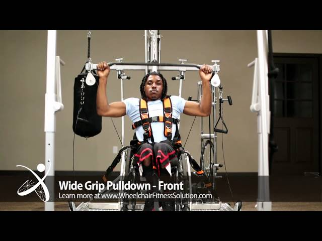 Wheelchair Fitness Solution | Exercise: Wide Grip Pulldown – Front (30 of 40)