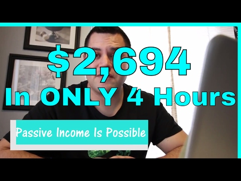 PASSIVE INCOME IDEAS – How I Made $2,694