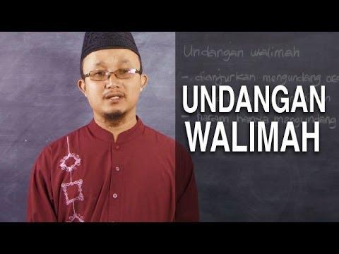 Video Serial Fikih Keluarga (29): Undangan Walimah Pernikahan - Ustadz Aris Munandar