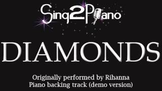 Gambar cover Diamonds - Rihanna (Piano backing track) karaoke cover