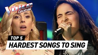 HARDEST SONGS to sing in The Voice (Kids)