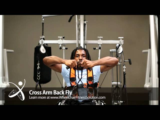Wheelchair Fitness Solution | Exercise: Cross Arm Back Fly (38 of 40)