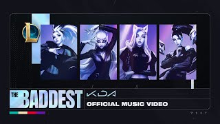 K/DA - THE BADDEST ft. (G)I-DLE, Bea Miller, Wolftyla (Official Lyric Video) | League of Legends