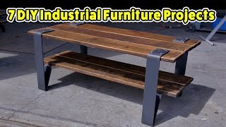 7 Industrial Furniture Pieces - DO IT YOURSELF PROJECTS