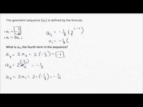 Using recursive formulas of geometric sequences (video