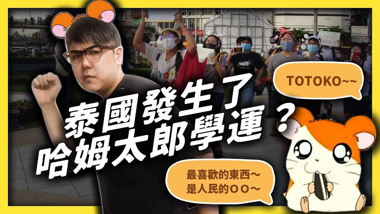 連示威都這麼有創意!泰國人為什麼要用哈姆太郎來諷刺政府? 志祺七七