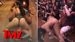 V LIVE STRIP CLUB HAPPY FAN GETS DOUBLE-TEAMED In Wild Memphis Casting Call | TMZ