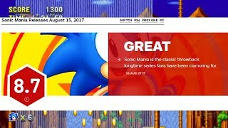 Every Sonic Mania Review Ever