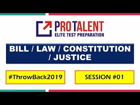 #ThrowBack2019 GK Revision 2019 I Important Legal News of 2019 by ProTalent