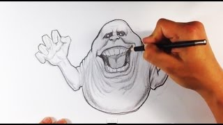 How to Draw Slimer from Ghostbusters - Easy Drawings