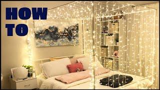 DIY Fairy Lights Canopy Bed *magical*