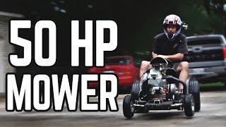 First Ride/Burnouts! 670cc Lawn Mower Pt. 4