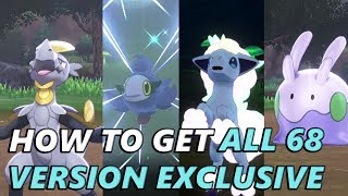 Indeedee  - (Pokémon) - How To Get ALL 68 Version Exclusive Pokemon in Pokemon Sword and Shield