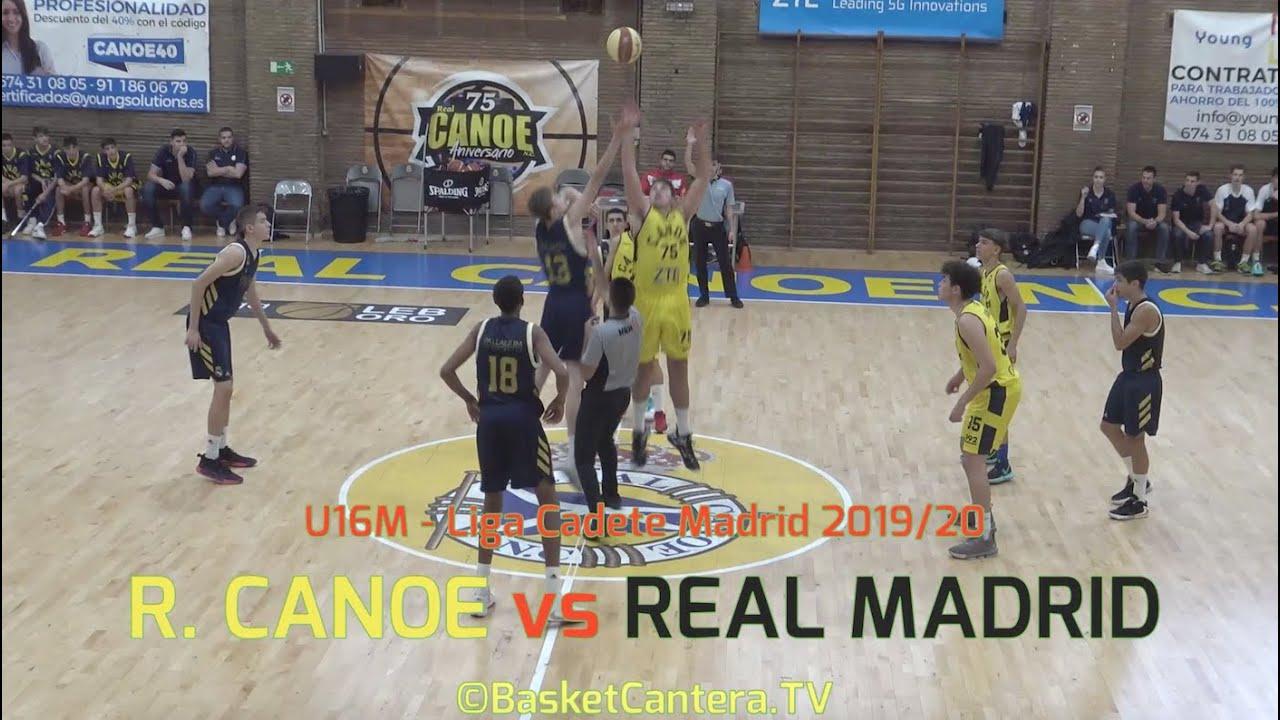 U16M - R. CANOE vs REAL MADRID.- Liga Cadete FBMadrid 2019/20 (BasketCantera.TV)
