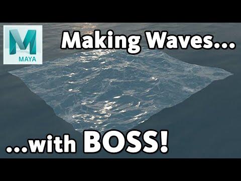 creating a 3d ocean with boss in maya tutorial by matt chan