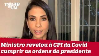 Amanda Klein: Estão montando as peças para recontar a história do combate à pandemia no Brasil