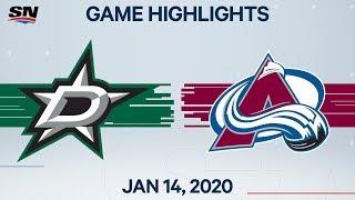 NHL Highlights | Stars vs. Avalanche – Jan. 14, 2020