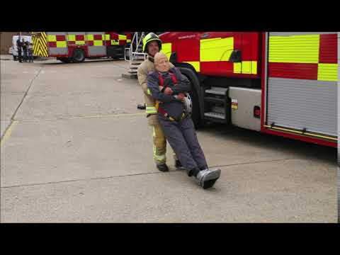 mannequin-man performming as a drag dummy:  for Essex Fire Service on 07/09/2019