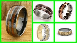 TOP 45 Beautiful And Unique Mens Wedding Bands Ideas