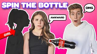 LAST TO SAY NO to Spin The Bottle *Valentines Day Kiss CHALLENGE*😘💋|Sawyer Sharbino @Piper Rockelle