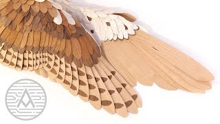 Wooden Owl Wings -- Woodworking/Sculpture
