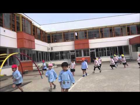 ともべ幼稚園「今年度初 3分間マラソン」
