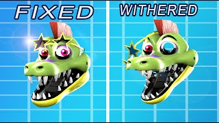 Fixed VS Withered GLAMROCK Animatronics In Five Nights At Freddys 9 Security Breach