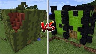 Minecraft MELON HOUSE VS CACTUS HOUSE MOD / FRUIT BUILD BATTLE !! Minecraft
