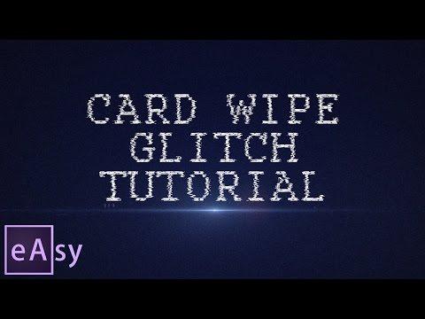 Card Wipe Glitch | After Effects tutorial | Diễn đàn Designer Việt Nam