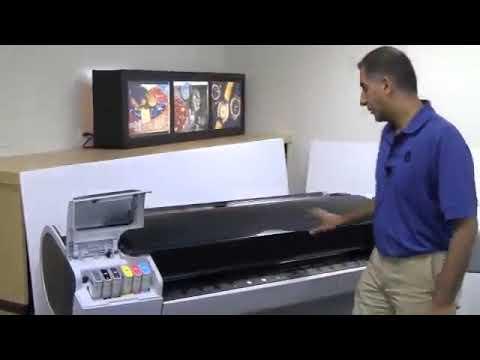 Hướng dẫn cách đổ mực máy in HP Designjet T790 and T1300   Cách thay đầu in hp