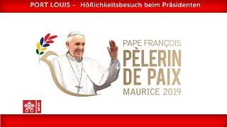 Papst Franziskus-Port Louis- Begegnung mit Vertretern des Staates 2019-09-09