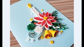 DIY Paper Quilling -Christmas Card - Easy & Simple  Christmas Design 17