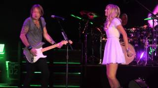 "Keith Urban And Lindsay Bruce Sing ""We Were Us"" At Sleep Train Amphitheater In Sacramento, CA"