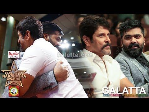 Cutest Moments Part 2 - Vikram and STR | Galatta Nakshatra Awards
