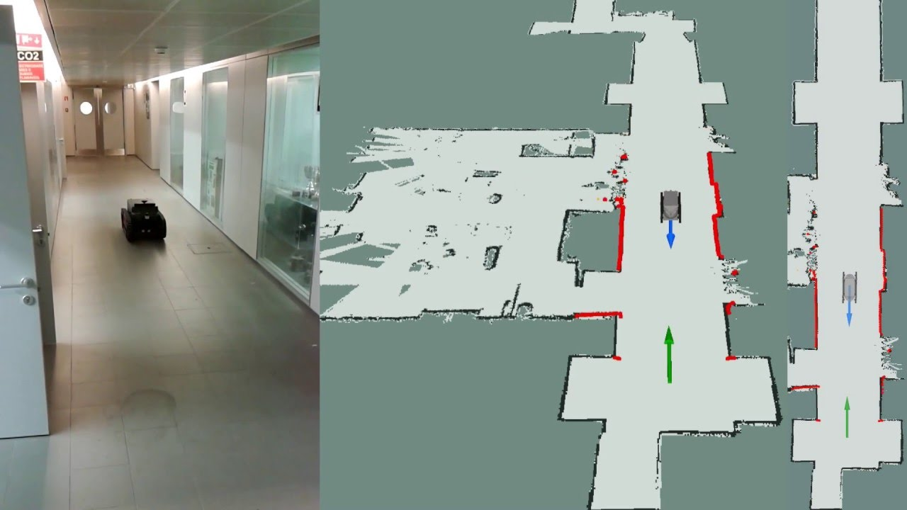 3 DoF localization system tests with the Guardian platform in the CROB lab