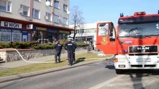 preview picture of video 'Lubin. Pożar na Odrodzenia'
